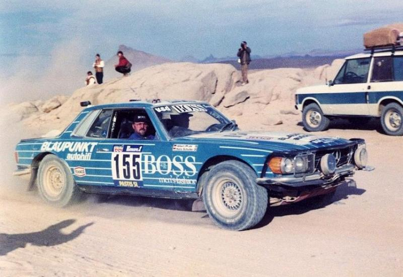 1984_Mercedes_500SLC_at_the_Paris-Dakar_rally._Albert_Pfuhl